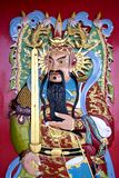 Deidad china del templo Foto de archivo