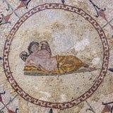 Deidad de Hypnos del sueño, ` romano de los mosaicos del ` del museo, Risana, bahía de Boca-kotor, Montenegro fotografía de archivo