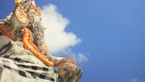 Deidad hindú Ganesha del elefante del templo de Bali metrajes