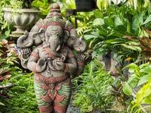 Deidad Tres-dirigida Ganesh Statue Imagen de archivo