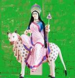 Deidade hindu Devi Shailputri Idol imagens de stock