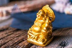 A deidade Hotei é uma estatueta Fotos de Stock Royalty Free