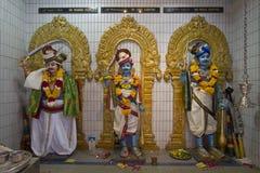 Deidades del templo hindú de Sri Veeramakaliamman Imagenes de archivo