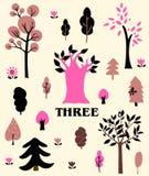 deigns ustalony drzewo Zdjęcia Royalty Free
