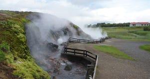 Deildartunguhver hot spring. Deildartunguhver the biggest hot spring of Europe royalty free stock images