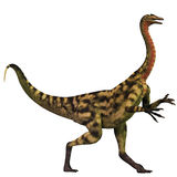 Deinocheirus over White Stock Image
