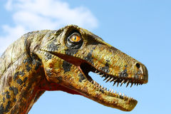 Deinonychus dinosaur head Stock Photography