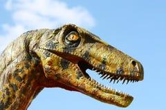 deinonychus dinosaura głowa Fotografia Stock