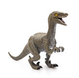 Deinonychus toy on white background Stock Photography