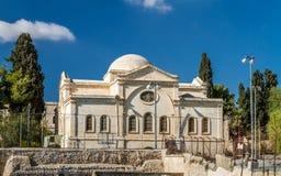 Deir Al Zeitoun, Church of the Holy Archangels in Jerusalem. View of Deir Al Zeitoun, Church of the Holy Archangels, Armenian church in the Armenian Quarter of Stock Images