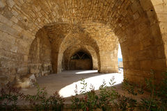 Deir el-Qamar, Lebanon. The limestone stables at the historical village of Deir el-Qamar, Lebanon, with its famous 16th century palace, now a major tourist Royalty Free Stock Image