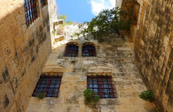 Deir el Qamar, Lebanon. Architectural  details of  fakhreddine palace now a national landmark and major tourist attraction Royalty Free Stock Photo