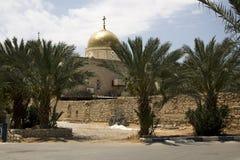 Deir Hajla东正教修道院在耶利哥以色列附近的 免版税库存图片