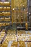 Deira -金的Souk -迪拜-珠宝 库存照片