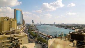 Deira area 4k time lapse from dubai city stock video footage