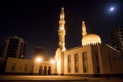 Deira City Center Mosque at Night, Dubai, UAE. Night image of the Deira City Center mosque at Deira, Dubai, United Arab Emirates Royalty Free Stock Photos