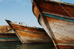 Deira Creek is a trading hub between Iran and The Arabian Peninsula Stock Photos