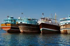 Deira Creek is a trading hub between Iran and The Arabian Peninsula Royalty Free Stock Photo