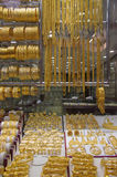 Deira - Gold - Souk - Dubai - jewels. Stock Photos