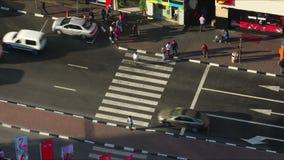 Deira high traffic crossroad 4k time lapse stock footage