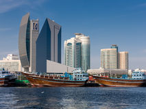 Deira skyline from Dubai Creek Stock Image