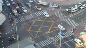 Deira traffic crossroad 4k time lapse dubai. Uae deira traffic crossroad time lapse dubai stock video footage
