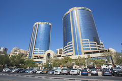 Deira Twin Towers in Dubai Stock Images