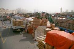 Deira und Büro Dubai: Nebenfluss - Waren - Fracht Lizenzfreie Stockfotografie