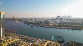 Deira zatoki 4k czasu upływ od Dubai miasta zbiory wideo