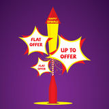 Deisgn de la bandera de la oferta de Diwali