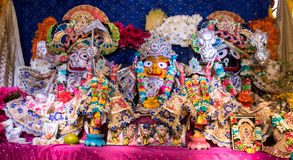 Deities of lord in rathayatra Royalty Free Stock Photo