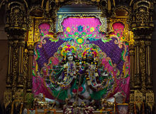Deities in Sri Krishna-Balaram Temple Stock Photography