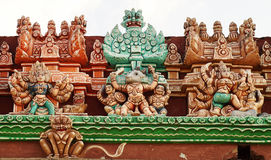 The deities of various Hindu gods Stock Image