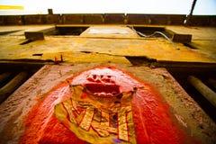 Deity in de muur Royalty-vrije Stock Afbeeldingen