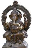 Deity geïsoleerde het beeldhouwwerk van Ganesha Royalty-vrije Stock Foto