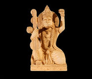 Deity of Hanuman from India on black background Stock Photography