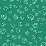 Deixa o teste padrão sem emenda Cores verdes e brancas Contexto tirado mão para o papel de parede, matéria têxtil Ilustração do v Imagem de Stock Royalty Free