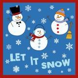 Deixais lhe para nevar ilustração do vetor