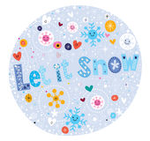 Deixais lhe para nevar Foto de Stock
