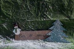 Deixais lhe para nevar Imagem de Stock Royalty Free