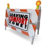 Deixando o sinal de aviso da barreira da zona de conforto cresça a bravura ilustração do vetor