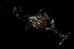 Deixar cair Glassing com morango Imagem de Stock Royalty Free