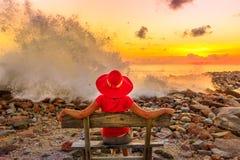 Deixar de funcionar das ondas de Anse Kerlan foto de stock royalty free