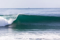 Deixar de funcionar do horizonte do oceano da onda Fotografia de Stock