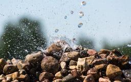 Deixar de funcionar nas rochas Foto de Stock Royalty Free