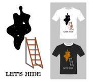 Deixe gráficos do couro cru do ` s - projeto gráfico do t-shirt ilustração do vetor