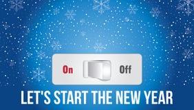 Deixe-nos começar o ano novo ilustração royalty free