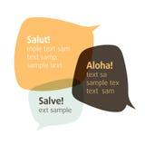 Deixe-nos falar. Vector bolhas. Introduza seu texto. Imagem de Stock Royalty Free