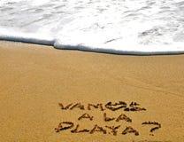 Deixe-nos ir à praia Fotos de Stock Royalty Free