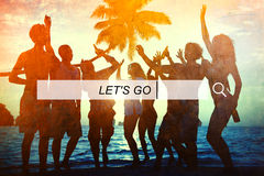 Deixe-nos ir conceito da felicidade da liberdade do verão Imagens de Stock